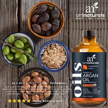 ArtNaturals Kaltgepresstes Reines Arganöl aus Marokko - Unberührt - 100% Argania Spinosa - Für Strapaziertes und Trockenes Haar sowie zur Hautpflege - 120 ml - 5