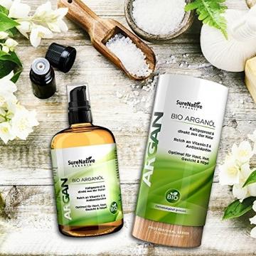 BIO Arganöl 100ml für Haare, Haut & Gesicht, Argan Oil, Argan Öl 100% rein & kaltgepresst original aus Marokko, Anti-Falten Anti-Aging Serum, nur frische Argannüsse aus zertifiziert biologischem Anbau - 7
