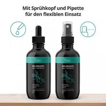 Bio Arganöl 120ml - 100% rein, nativ und kalt-gepresst für weiche, junge Haut, glatte Haare und gesunde Nägel - unverdünnt und ohne Silikon - colibri cosmetics / Naturkosmetik made in Germany - 2