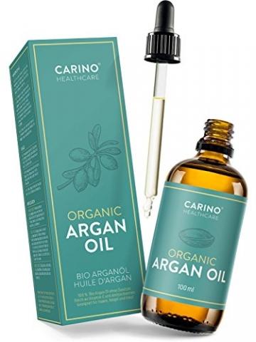 Carino HealthCare BIO Arganöl 100ml aus Marokko 100% rein kaltgepresst Anti-Falten Anti-Aging-Pflege für Haut Haare und Nägel Serum Haut Haare - 2