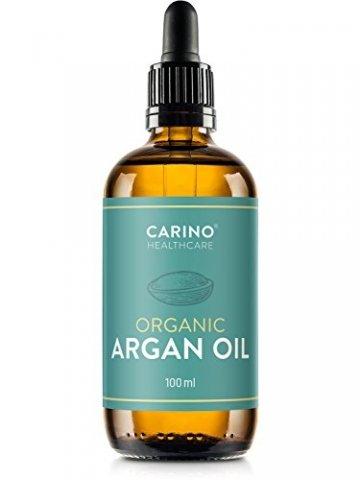 Carino HealthCare BIO Arganöl 100ml aus Marokko 100% rein kaltgepresst Anti-Falten Anti-Aging-Pflege für Haut Haare und Nägel Serum Haut Haare - 3
