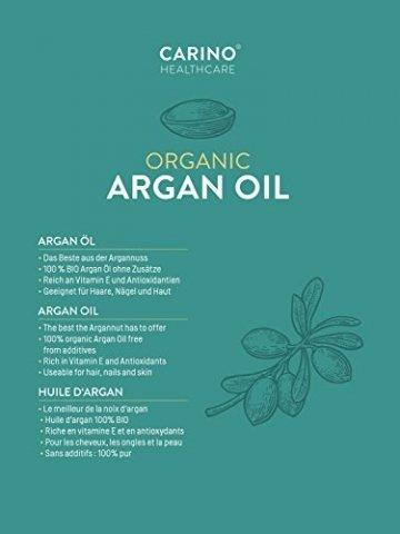 Carino HealthCare BIO Arganöl 100ml aus Marokko 100% rein kaltgepresst Anti-Falten Anti-Aging-Pflege für Haut Haare und Nägel Serum Haut Haare - 5