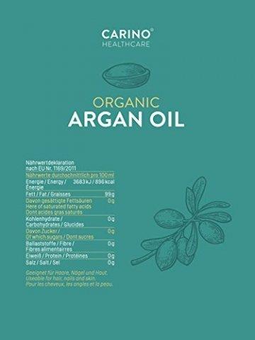 Carino HealthCare BIO Arganöl 100ml aus Marokko 100% rein kaltgepresst Anti-Falten Anti-Aging-Pflege für Haut Haare und Nägel Serum Haut Haare - 6