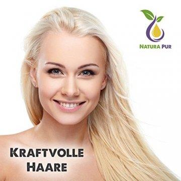 Natura Pur Bio Arganöl 120ml, ohne Silikon - 100% nativ, kaltgepresst, vegan - Anti-Aging Serum für kraftvolle Haare, zarte Haut, junges Gesicht, Anti-Falten und starke Nägel - Argan-Öl aus Marokko in Lichtschutzflasche mit Pipette - 5