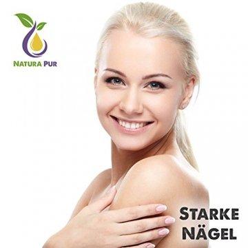 Natura Pur Bio Arganöl 120ml, ohne Silikon - 100% nativ, kaltgepresst, vegan - Anti-Aging Serum für kraftvolle Haare, zarte Haut, junges Gesicht, Anti-Falten und starke Nägel - Argan-Öl aus Marokko in Lichtschutzflasche mit Pipette - 7