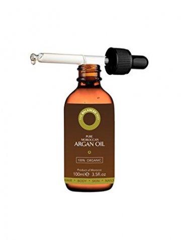 Reines Arganöl 100ml für Haare, Gesicht, Haut und Nägel - Zertifiziert Biologisch, 100% Natürlich, Kalt gepresst und Ungeröstet - Intensiv Feuchtigkeitsspendend and Reich an Antioxidantien - 2