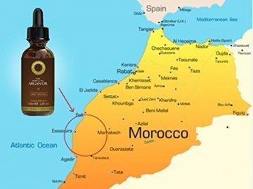 Reines Arganöl 100ml für Haare, Gesicht, Haut und Nägel - Zertifiziert Biologisch, 100% Natürlich, Kalt gepresst und Ungeröstet - Intensiv Feuchtigkeitsspendend and Reich an Antioxidantien - 3