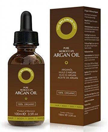 Reines Arganöl 100ml für Haare, Gesicht, Haut und Nägel - Zertifiziert Biologisch, 100% Natürlich, Kalt gepresst und Ungeröstet - Intensiv Feuchtigkeitsspendend and Reich an Antioxidantien - 1