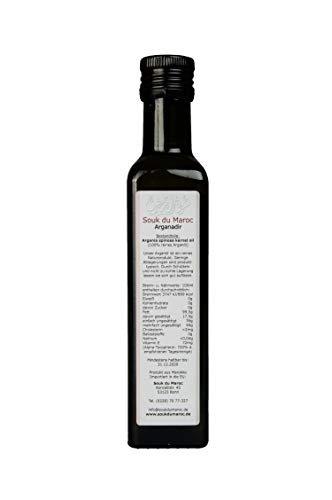 Arganadir Bio Arganöl geröstet und kaltgepresst 250 ml | Vegetarisches Delikatess-Speiseöl | Rein Vegan Fair | Für Salate kalte und warme Küche und als Nahrungsergänzung | Von Souk du Maroc - 2