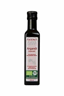 Arganadir Bio Arganöl geröstet und kaltgepresst 250 ml | Vegetarisches Delikatess-Speiseöl | Rein Vegan Fair | Für Salate kalte und warme Küche und als Nahrungsergänzung | Von Souk du Maroc - 1