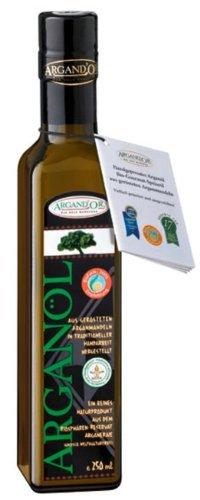 Argand'or Reines Bio-Arganöl, handgepresst, aus gerösteten Argannusskernen, besonders nussiger Geschmack, 250 ml, 1er Pack (1 x 250 ml) -