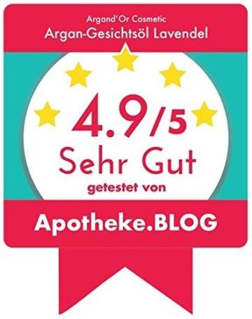 """ARGAND'OR veganes Bio Arganöl-Gesichtsöl """"LAVENDEL"""" - Pflegt - Regeneriert - Spendet Feuchtigkeit - Mit hygienischer Pipette - Für alle Hauttypen - Serum - 50ml - 2"""