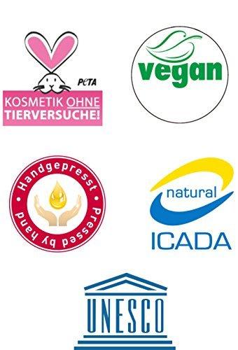 """ARGAND'OR veganes Bio Arganöl-Gesichtsöl """"LAVENDEL"""" - Pflegt - Regeneriert - Spendet Feuchtigkeit - Mit hygienischer Pipette - Für alle Hauttypen - Serum - 50ml - 4"""