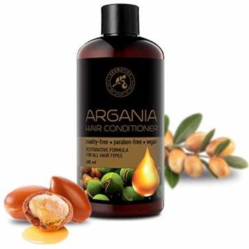 Arganöl Conditioner 480ml - mit Naturreinem Arganöl & Olivenöl - Haarspülung für Alle Haartypen - Frei von Farbstoffen & Mineralölen - Argan Haarpflege - 2