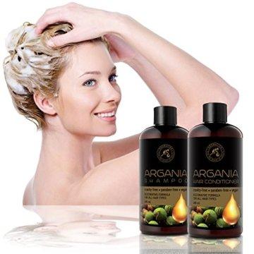 Arganöl Conditioner 480ml - mit Naturreinem Arganöl & Olivenöl - Haarspülung für Alle Haartypen - Frei von Farbstoffen & Mineralölen - Argan Haarpflege - 4