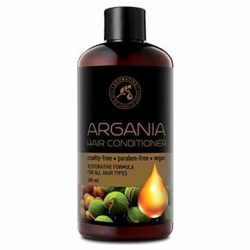 Arganöl Conditioner 480ml - mit Naturreinem Arganöl & Olivenöl - Haarspülung für Alle Haartypen - Frei von Farbstoffen & Mineralölen - Argan Haarpflege - 1
