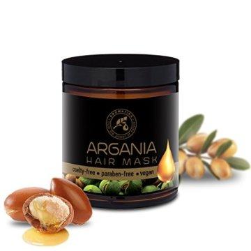 Arganöl Haarkur 250ml mit Naturreinem Arganöl und Kokosöl - Haarmaske für Alle Haartypen - Frei von Farbstoffen und Mineralölen - Argan Haarpflege - 2