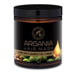 Arganöl Haarkur 250ml mit Naturreinem Arganöl und Kokosöl - Haarmaske für Alle Haartypen - Frei von Farbstoffen und Mineralölen - Argan Haarpflege - 1
