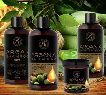 Arganöl Haarkur 250ml mit Naturreinem Arganöl und Kokosöl - Haarmaske für Alle Haartypen - Frei von Farbstoffen und Mineralölen - Argan Haarpflege - 7