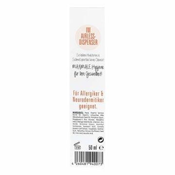 Arganoel-Zauber Tagescreme | bei empfindliche Haut im Winter | für Allergiker & Neurodermitiker geeignet | mit 10% Arganöl, Allatoin, Zinkoxid, Tocopherol & Vitamin C (1 x 50 ml) - 4