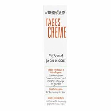 Arganoel-Zauber Tagescreme   bei empfindliche Haut im Winter   für Allergiker & Neurodermitiker geeignet   mit 10% Arganöl, Allatoin, Zinkoxid, Tocopherol & Vitamin C (1 x 50 ml) - 5