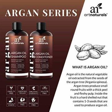 ArtNaturals Reines Organisches Arganöl Shampoo - (12 Oz / 354 ml) - Zur Tägliche Haarpflege - Für jeden Haartyp geeignet - Sulfat- und Silikon-Frei - 3