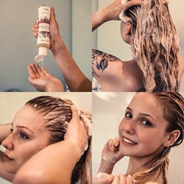 BELVIDE® Feuchtigkeits Shampoo mit Bio Arganöl und Bio Lavendel · ohne Silikon, Sulfate und Parabene · natürlicher Glanz und Geschmeidigkeit · tierversuchsfrei und vegan · 200 ml - 5