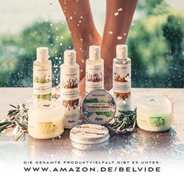 BELVIDE® Feuchtigkeits Shampoo mit Bio Arganöl und Bio Lavendel · ohne Silikon, Sulfate und Parabene · natürlicher Glanz und Geschmeidigkeit · tierversuchsfrei und vegan · 200 ml - 6