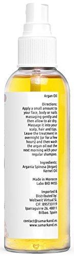 BIO Arganöl 100% Rein Kaltgepresst mit Öko-Zertifikat ECOCERT & USDA für Haut & Haar - Das Original aus Marokko (100 ml) - 3