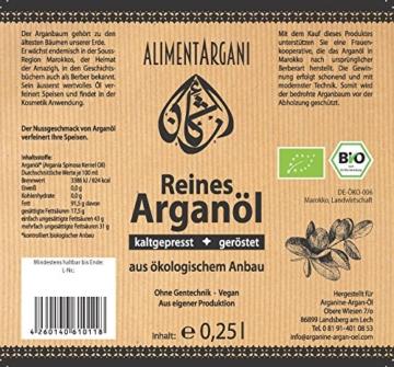 Bio-Arganöl Alimentargani 250ml geröstet kaltgepresst vegan - 2
