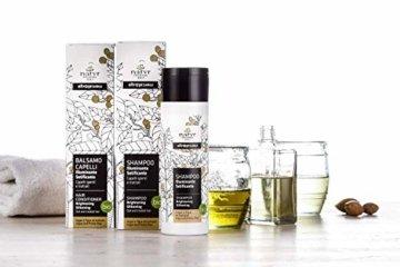 BIO Pflege-Shampoo mit Arganöl und Feigenkaktus ohne Silikone ✔ für Gefärbte, Behandelte, Strapazierte Haare ✔ Natyr - Fair Trade Naturkosmetik aus Italien ✔ 200ml - 3