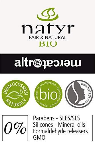 BIO Pflege-Shampoo mit Arganöl und Feigenkaktus ohne Silikone ✔ für Gefärbte, Behandelte, Strapazierte Haare ✔ Natyr - Fair Trade Naturkosmetik aus Italien ✔ 200ml - 5