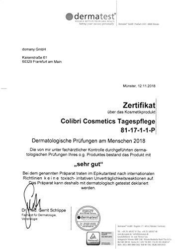 colibri cosmetics Tagescreme mit Hyaluron und Arganöl, feuchtigkeitsspendende Tagespflege (1 x 100 ml) - 5
