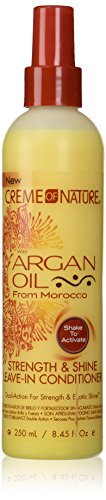 Creme of Nature – Argan Oil from Morocco – Strength & Shine Leave-In Conditioner 8.45oz 250ml -