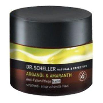 Dr. Scheller Arganöl und Amaranth Anti-Falten Pflege Nacht, 1er Pack (1 x 50 ml) -