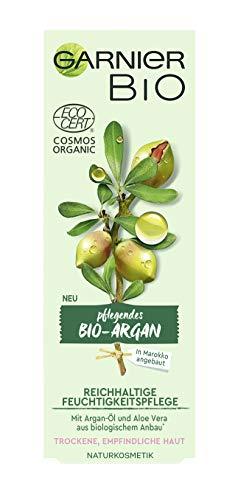 Garnier Bio Arganöl Crème mit Aloe Vera, Naturkosmetik, Argan Reichhaltige Feuchtigkeitspflege, 2er Pack (2 x 50 ml) - 2