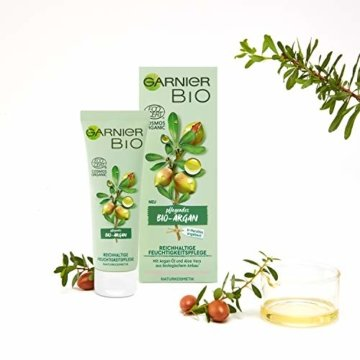 Garnier Bio Arganöl Crème mit Aloe Vera, Naturkosmetik, Argan Reichhaltige Feuchtigkeitspflege, 2er Pack (2 x 50 ml) - 6