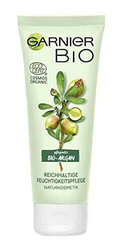 Garnier Bio Arganöl Crème mit Aloe Vera, Naturkosmetik, Argan Reichhaltige Feuchtigkeitspflege, 2er Pack (2 x 50 ml) - 1