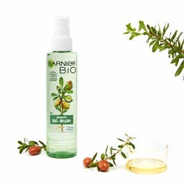 Garnier Bio Arganöl Gesichtsspray Kornblume Gesichtspflege, Naturkosmetik, Argan Feuchtigkeitsspendendes Gesichts-Pflege-Spray, 2er Pack (2 x 150 ml) - 2