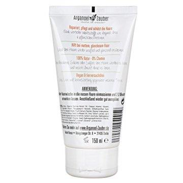 Haarspülung ohne Silikon | Conditioner speziell gegen trockenes & strapaziertes Haar | 150 ml Naturkosmetik von Arganoel-Zauber - 2