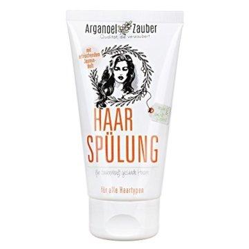 Haarspülung ohne Silikon | Conditioner speziell gegen trockenes & strapaziertes Haar | 150 ml Naturkosmetik von Arganoel-Zauber - 1