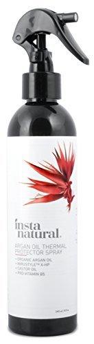 InstaNatural Wärmeschutz-Spray - Mit Bio-Arganöl - bestes Wärmeschutzmittel für Ihre Haare - Rizinusöl & Vitamin B5 - Verhindert Trockenheit, Schädigungen & Spliss - 240 ml - 1