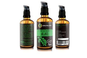 Kräuterland Arganöl, Bio Hautöl, 100ml, kaltgepresst, 100% naturrein, für Gesichts-, Bart-, Haar- und Körperpflege, Massageöl, für trockene Haut (Arganöl 100ml) - 2