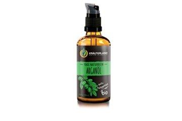 Kräuterland Arganöl, Bio Hautöl, 100ml, kaltgepresst, 100% naturrein, für Gesichts-, Bart-, Haar- und Körperpflege, Massageöl, für trockene Haut (Arganöl 100ml) - 1