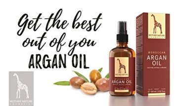 Marokkanisches Bio Arganöl - Mother Nature - FREI VON Parabenen, Silikonen, Parfümen, PEGs, Hormonen - 100 ml - organisches Argan Öl - Arganöl kaltgepresst für Haut, Gesicht, Haare und Nägel - 2