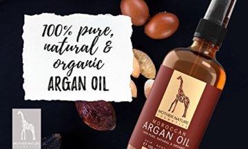 Marokkanisches Bio Arganöl - Mother Nature - FREI VON Parabenen, Silikonen, Parfümen, PEGs, Hormonen - 100 ml - organisches Argan Öl - Arganöl kaltgepresst für Haut, Gesicht, Haare und Nägel - 3