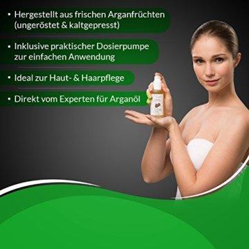 Oleador Arganöl 100 ml zur Pflege von Haut und Haare | naturbelassen, ungeröstet & kaltgepresst | tierversuchsfrei & vegan | Made in Germany - 4